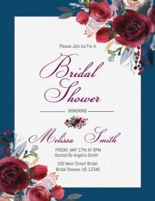 Customizable Design Templates For Bridal Shower Party Flyer - Bridal shower flyer template