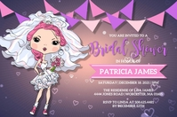 Bridal Shower Invitation Label template