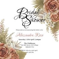 Bridal Shower Invitation Square (1:1) template