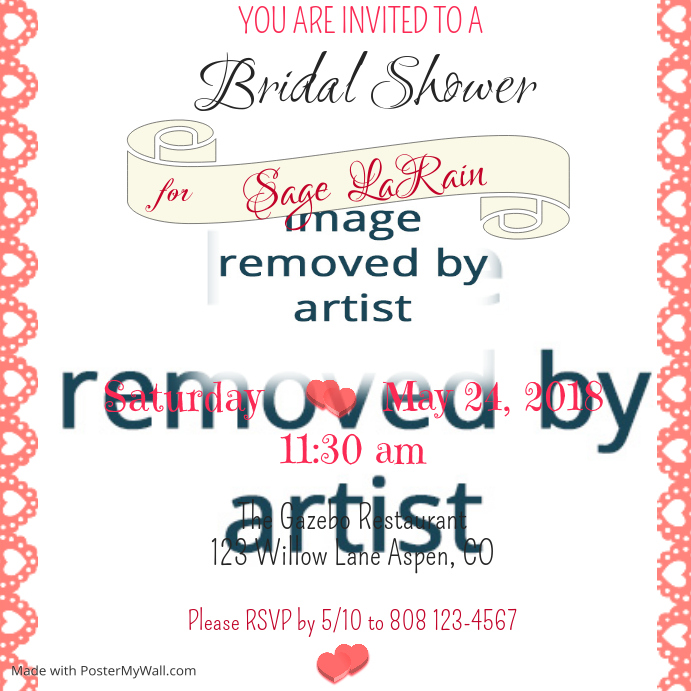 Bridal Shower Invitation Template PosterMyWall