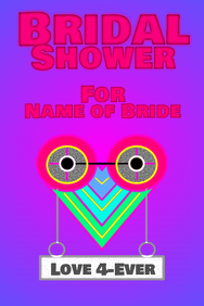 Bridal shower - love 4-ever