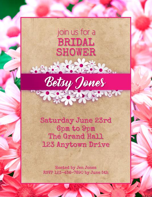 Bridal Shower party flyer Folder (US Letter) template