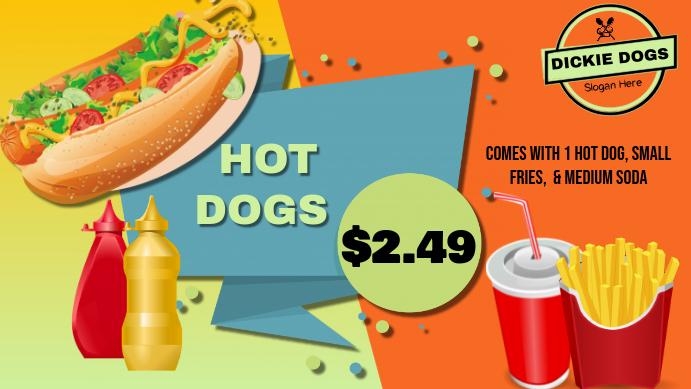 Hot Dog Google Header Google+ Omslag Prent template