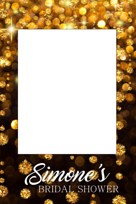 Bridal Shower Party Prop Frame Template Postermywall