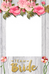 Bridal Shower Party Prop Frame