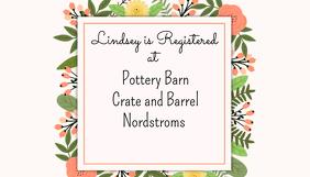 Bridal Shower Registry Card