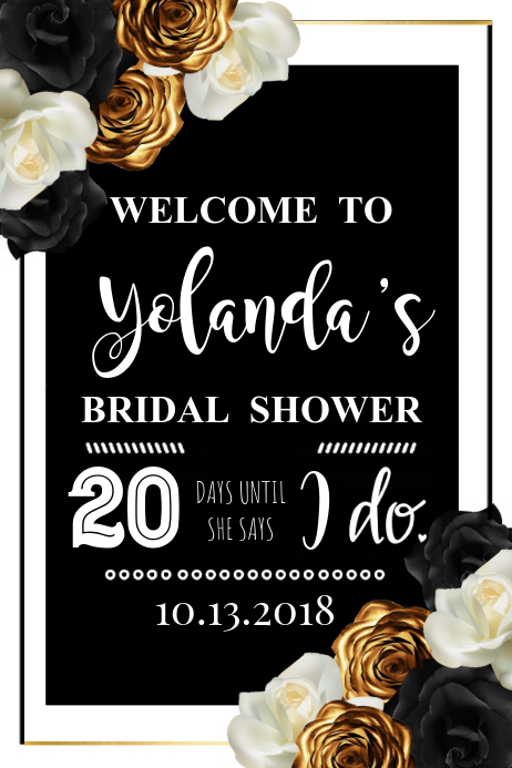 Bridal Shower Welcome Sign Template | PosterMyWall