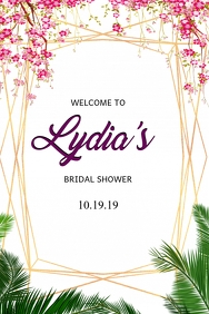 Bridal Shower Welcome Sign