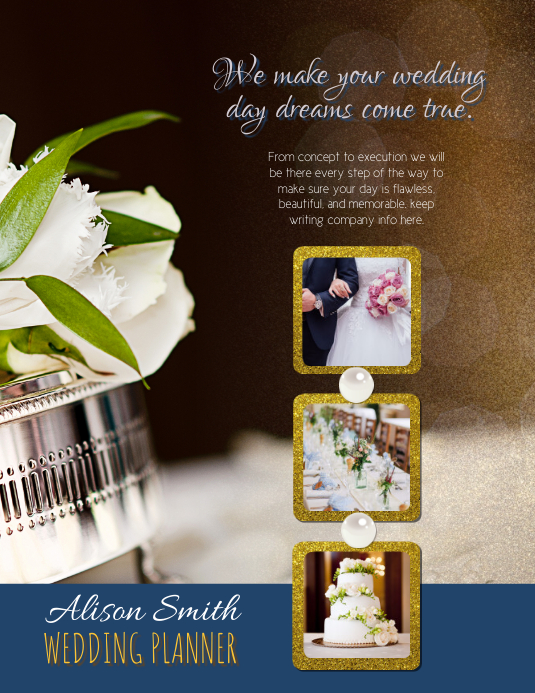 Bridal Wedding Event Planner Flyer Template
