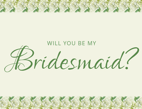BRIDESMAID invitation template