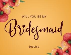 BRIDESMAID invitation template