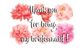 bridesmaid thank you card