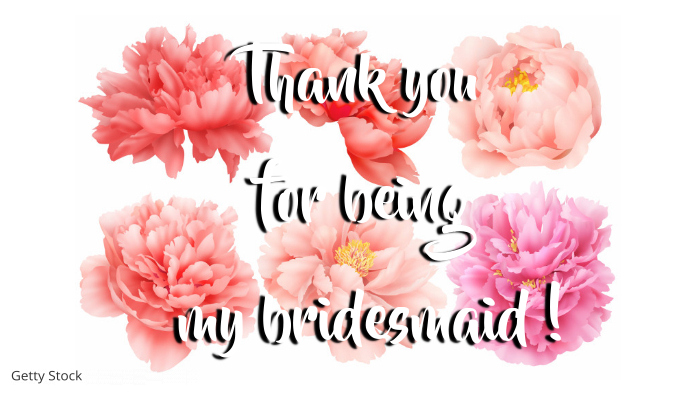 Bridesmaid Thank You Card Template Postermywall