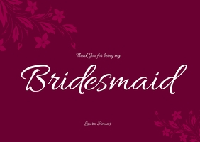 bridesmaid thank you card