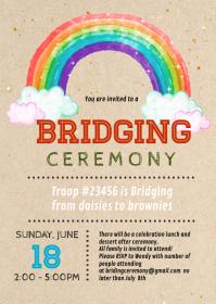 Bridging Ceremony invitation A6 template