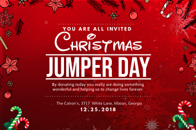 Bright Christmas Jumper Party Invite Poster