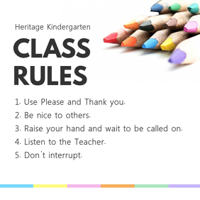 Bright Classroom Rules and Procedures Poster Template