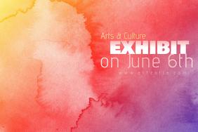 Bright Colorful Paint Simple Modern Event Club Venue Art