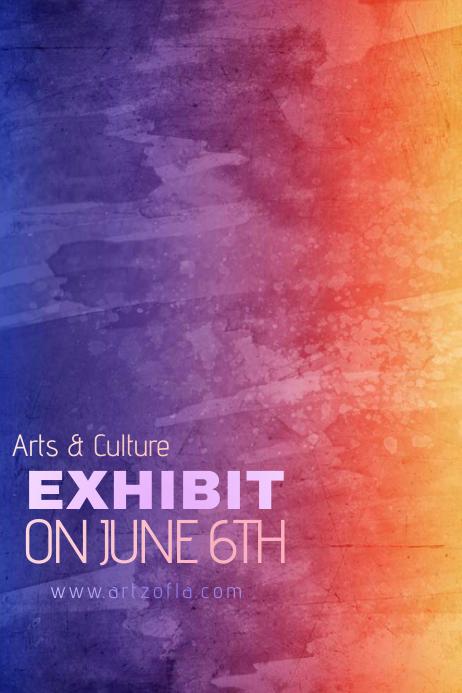 Bright Colors Paint Simple Modern Event Club Venue Art
