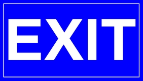 Bright Exit Sign Board Template Facebook-omslagvideo (16: 9)