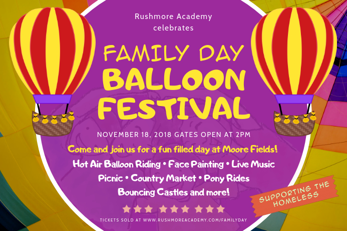 Bright Family Day Community Event Invitation Poster