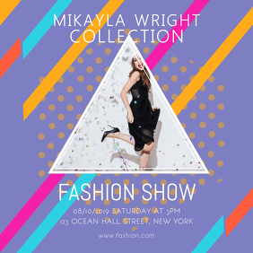 Bright Fashion Show Instagram Post