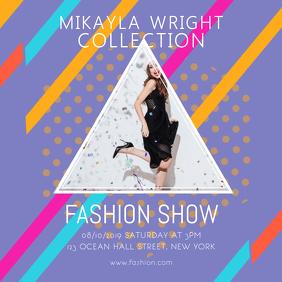 Bright Fashion Show Instagram Post