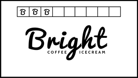 Bright Icecream Business Card Template Biglietto da visita
