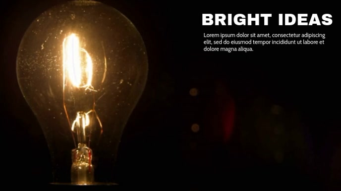 BRIGHT IDEAS Digital na Display (16:9) template