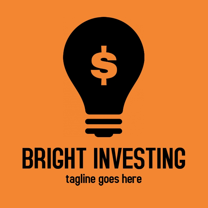 Bright investing logo or app icon template
