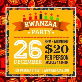 Bright Kwanzaa Party Invitation Template