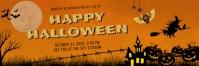 Bright orange Halloween Twitter header Twitter-header template