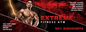 Bright Red Gym Advert Facebook Cover