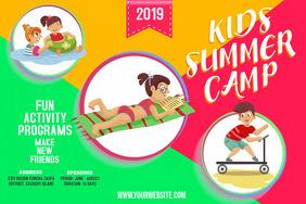 Bright School Camp Poster