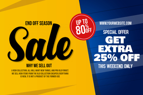 Bright Yellow and Blue Sale Poster