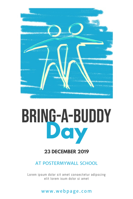 Bring a buddy day flyer Design Template