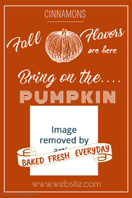 Bring on the Pumpkin Poster