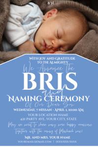 Bris Announcement Label template