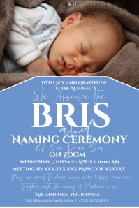 Bris on Zoom Announcement Label template