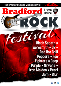 British Rock Radio Poster