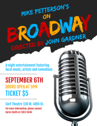Broadway Flyer template