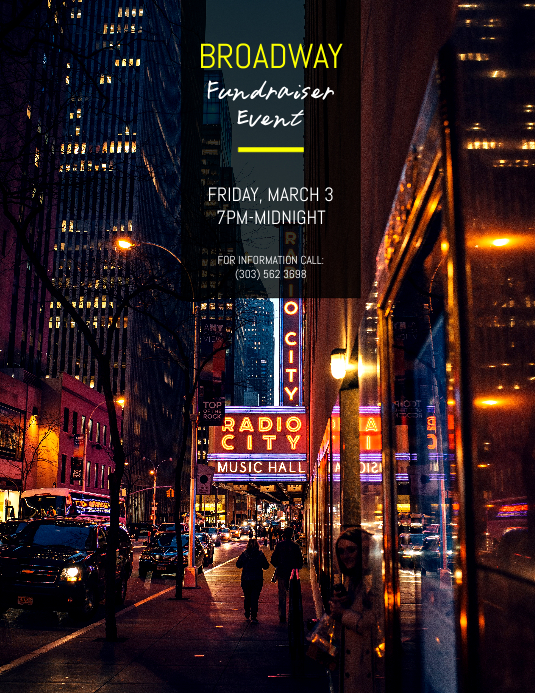 Broadway Fundraiser Event Flyer