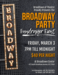 Broadway Party Flyer