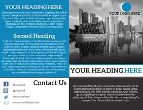 Brochure Bifold Flyer (format US Letter) template