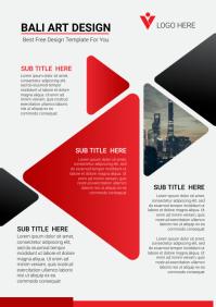 Brochure design template flyer A4