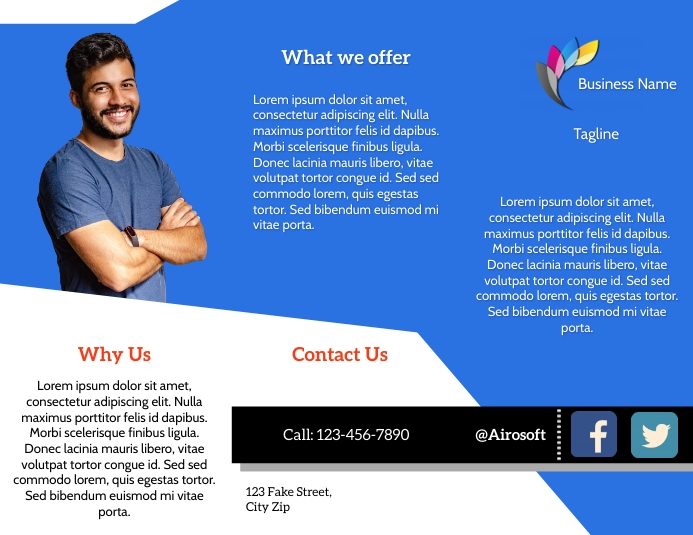 Brochure Software Company Flyer (US Letter) template