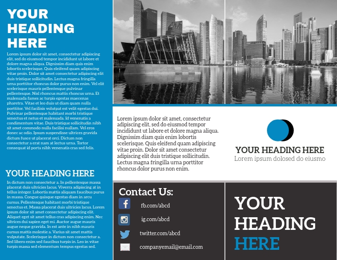 Brochure trifold ใบปลิว (US Letter) template