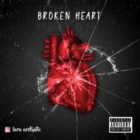 Broken heart album cover template