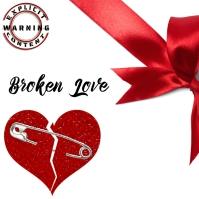 Broken heart Lov Trap Mixtape/Album Cover Art Instagram Post template