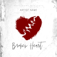 Broken Heart Mixtape/Album Cover Art Template Capa de álbum